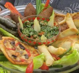 Menyn på Mammornas Café är huvudsakligen libanesisk